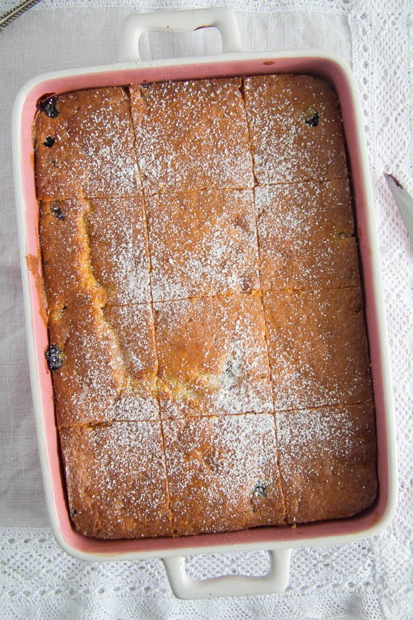 blueberry sour cream cake 3 Easy Blueberry Sour Cream Cake (Fresh or Frozen Blueberries)