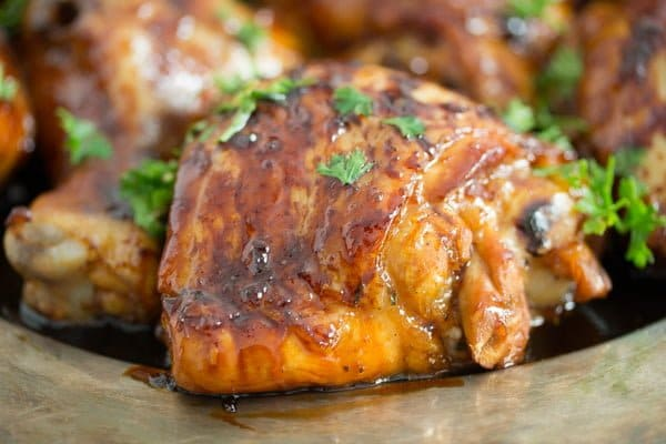 Sticky Honey Lime Chicken Thighs with Soy Sauce