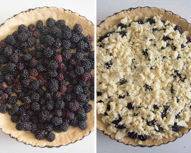 how to make berry crumble pie