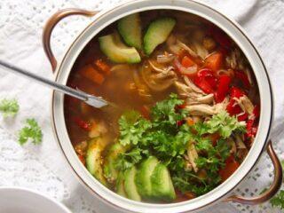 caldo tlalpeno recipe spicy mexican chicken soup