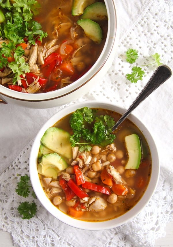 mexican chicken soup with chickpeas