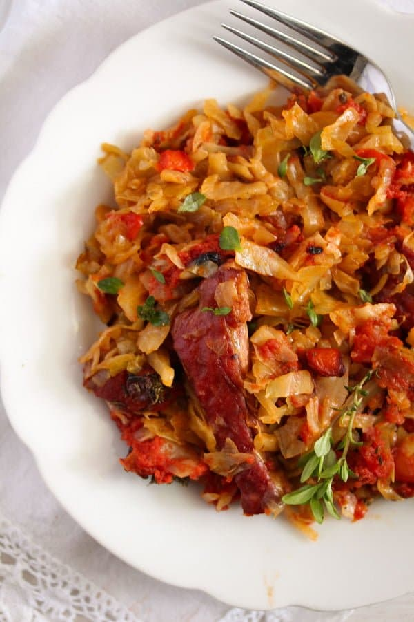 cabbage casserole 6 Cabbage Casserole Recipe with Pork Ribs and Tomatoes
