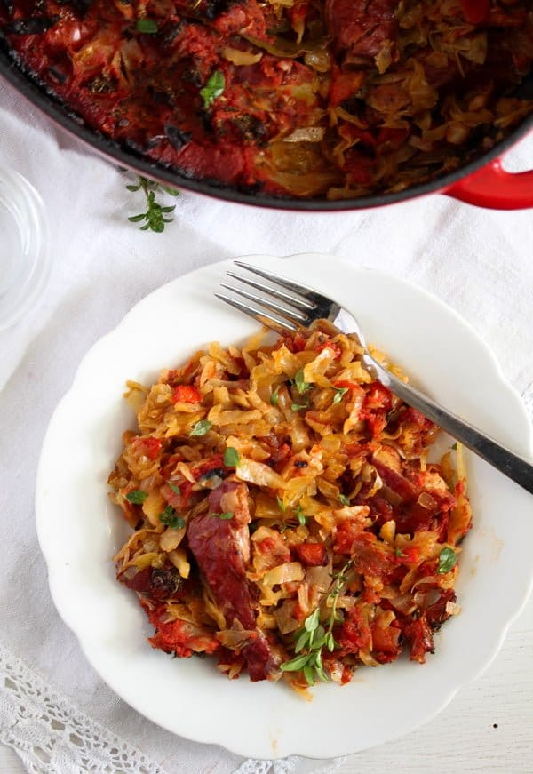 cabbage casserole 7 Cabbage Casserole Recipe with Pork Ribs and Tomatoes