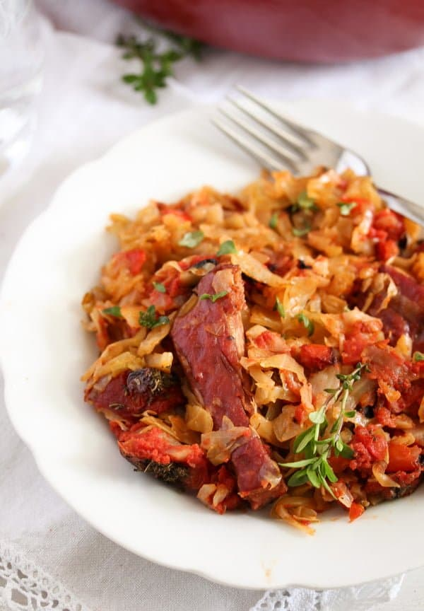 cabbage casserole 9 Cabbage Casserole Recipe with Pork Ribs and Tomatoes