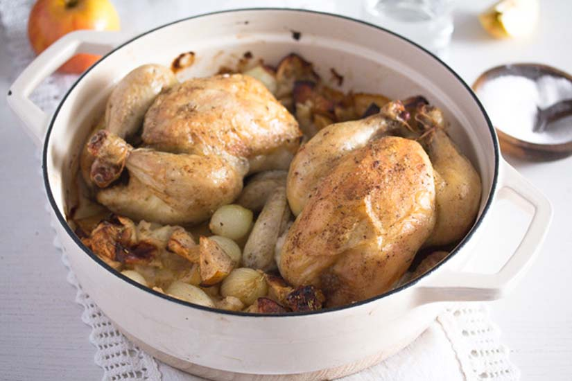 whole roasted chicken with rosemary