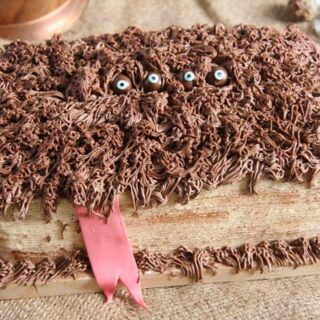 hagrid monster book cake
