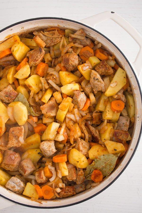 pork stew 3 Easy Pork Stew Recipe – Hungarian Goulash with Pork and Potatoes