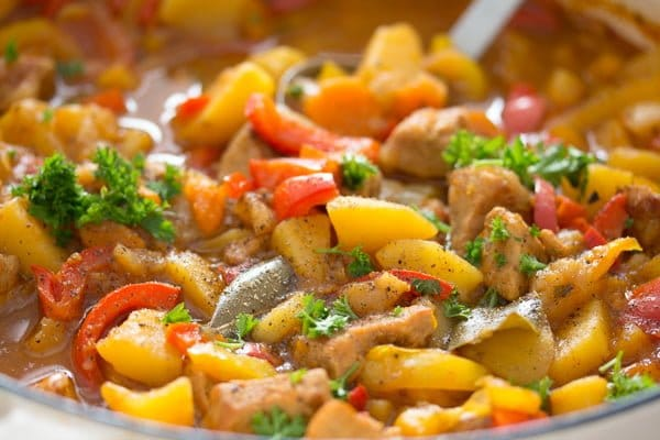 Hungarian goulash with pork