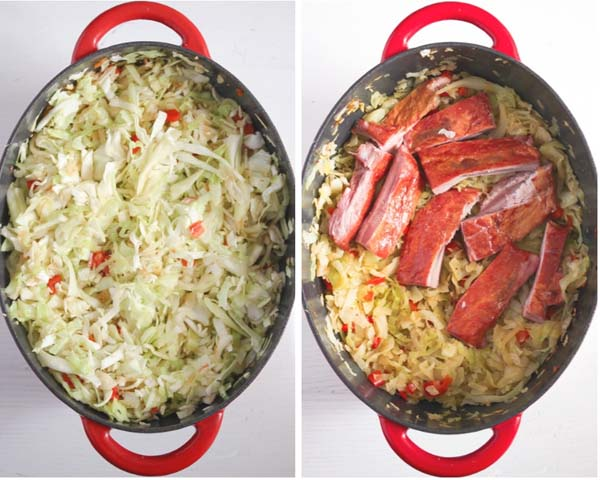 stewed cabbage Cabbage Casserole Recipe with Pork Ribs and Tomatoes