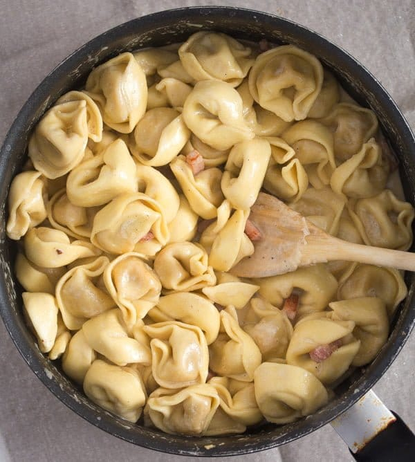 tortellini in cream sauce 4 Cheese Tortellini in Cream Sauce with Ham and Basil