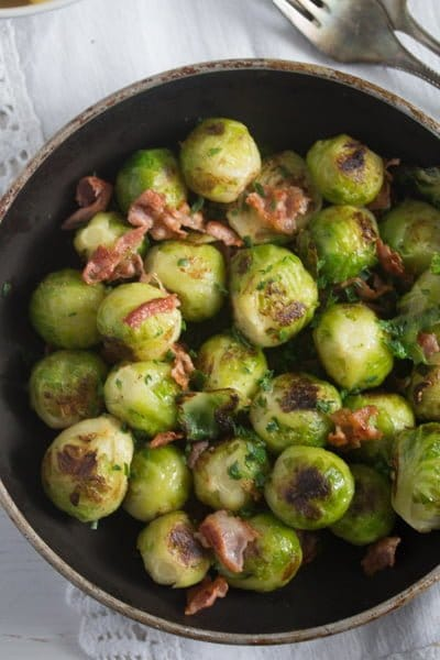 brussels sprouts pan fried