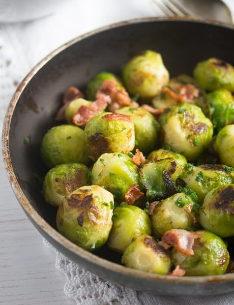 brussels sprouts garlic 7 Brussels Sprouts with Garlic and Bacon