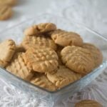 bowl with simple peanut butter cookies