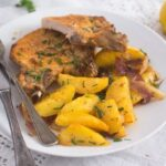 baked pork chops potatoes 9 150x150 Oven Roasted Pork Chops with Potatoes – Easy Sheet Pan Meal
