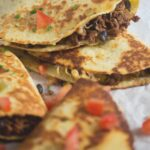 quesadillas with beef and avocado