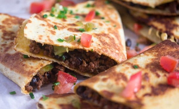 black bean quesadilla recipe 7 Black Bean Quesadillas Recipe with Ground Beef and Avocado