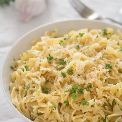 buttered noodles with garlic 3 480x480 Buttered Noodles with Garlic and Parmesan