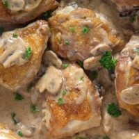 chicken with mushroom sauce 5 2 200x200 Chicken Thighs with Mushrooms