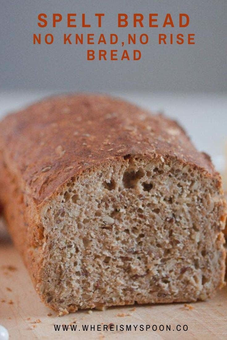 spelt bread 735x1102 Spelt Bread – No Rise, No Knead Bread