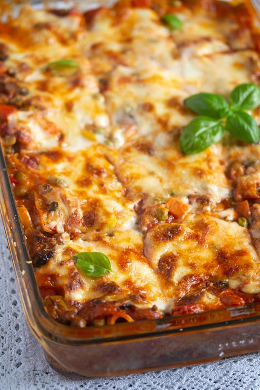 , Vegetable Lasagna with White Sauce (or Bechamel Sauce)
