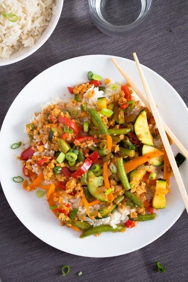 vegetable stir fry with soya granules 4 Easy Vegetarian Stir Fry with Soya Granules