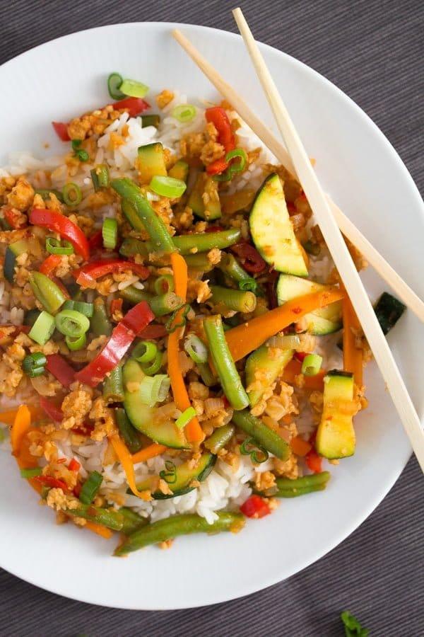 vegetable stir fry with soya granules 5 Easy Vegetarian Stir Fry with Soya Granules