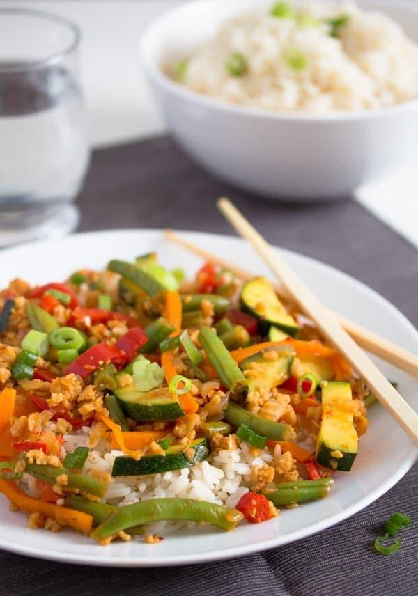 vegetable stir fry with soya granules 6 Easy Vegetarian Stir Fry with Soya Granules