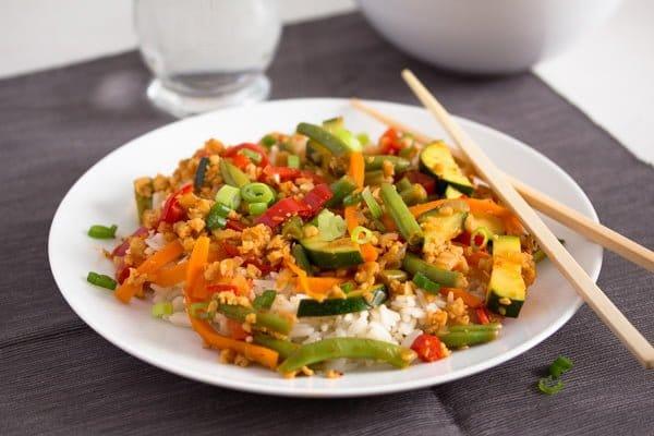 vegetable stir fry with soya granules 7 Easy Vegetarian Stir Fry with Soya Granules