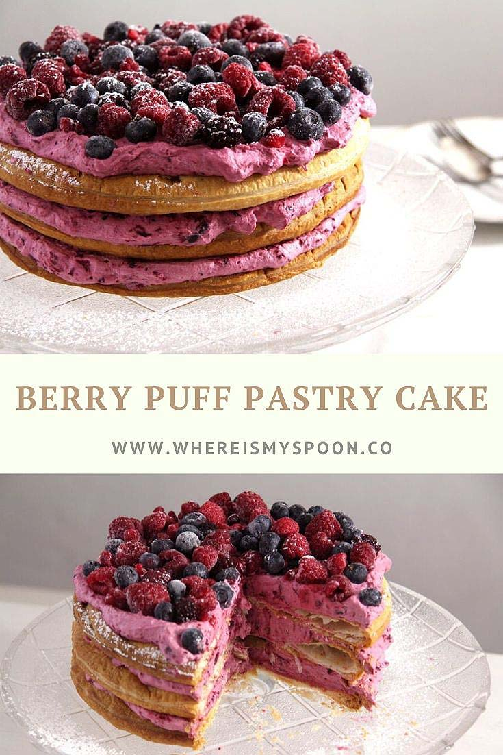 puff pastry cake, Berry Puff Pastry Cake