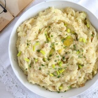 colcannon recipe in a white bowl