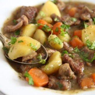 irish lamb stew on a plate