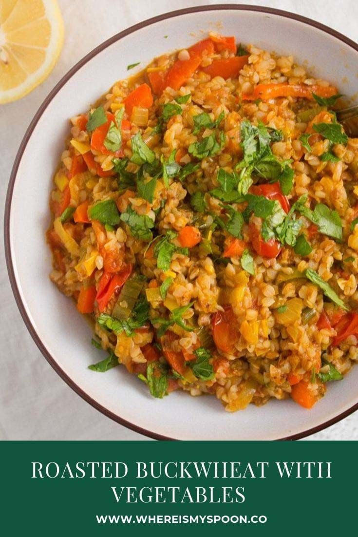 , Roasted Buckwheat with Vegetables – Vegan Kasha Recipe