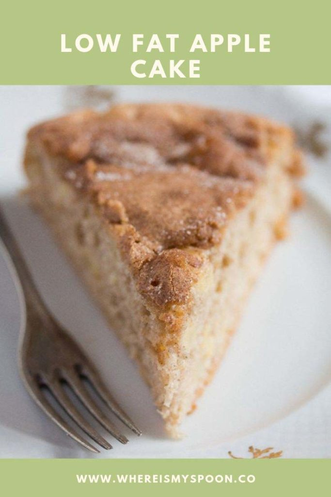 slice of low fat apple cake