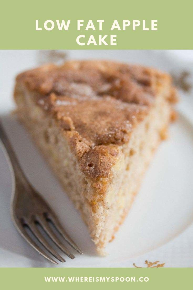 low-fat apple cake, Healthy Apple Cake – Low Fat Cake Recipe
