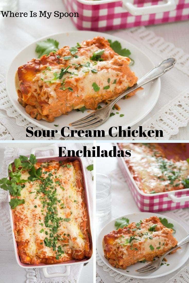 , Sour Cream Chicken Enchiladas