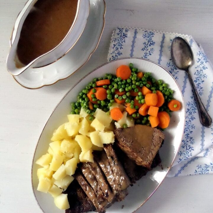 dutch oven roast beef with side dishes