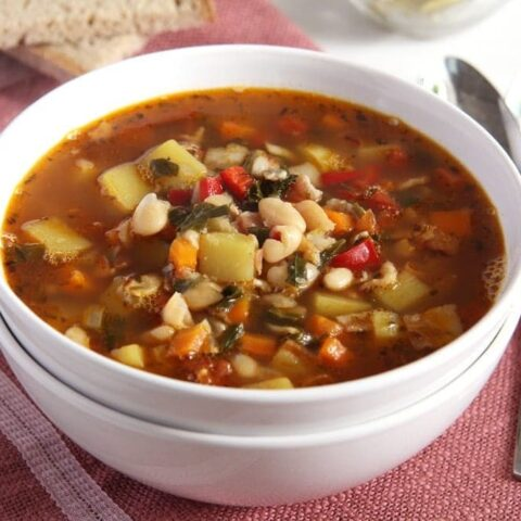 Bone Broth Vegetable Soup Recipe (with Beans)