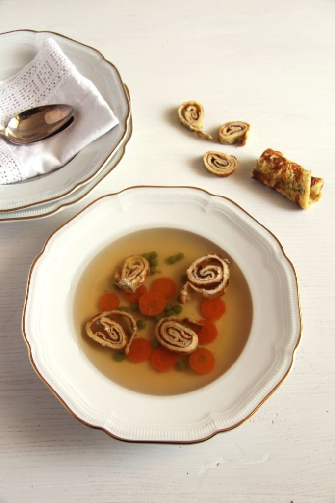 , How to Make Basic Beef Broth and Beef Soup with Dill Pancakes