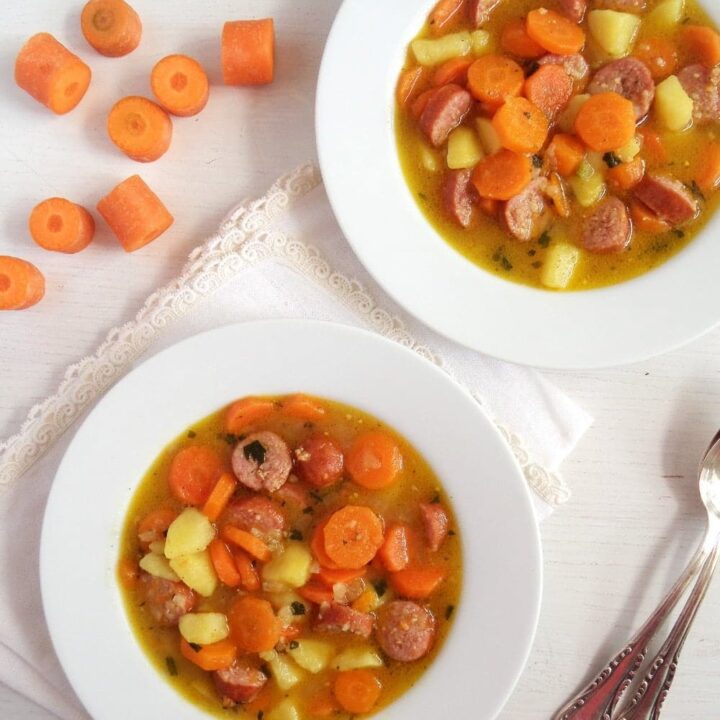 Kid-Friendly Soup with Potatoes and Sausages