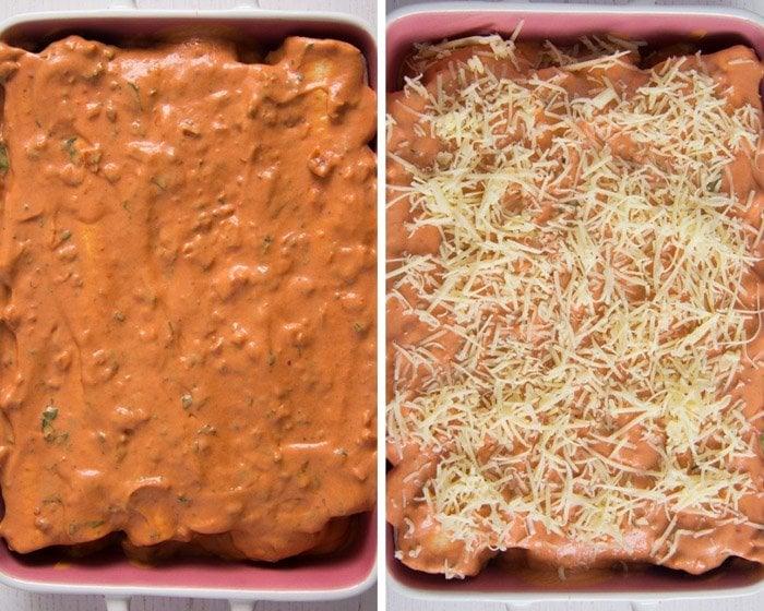 how to make sour cream chicken enchiladas