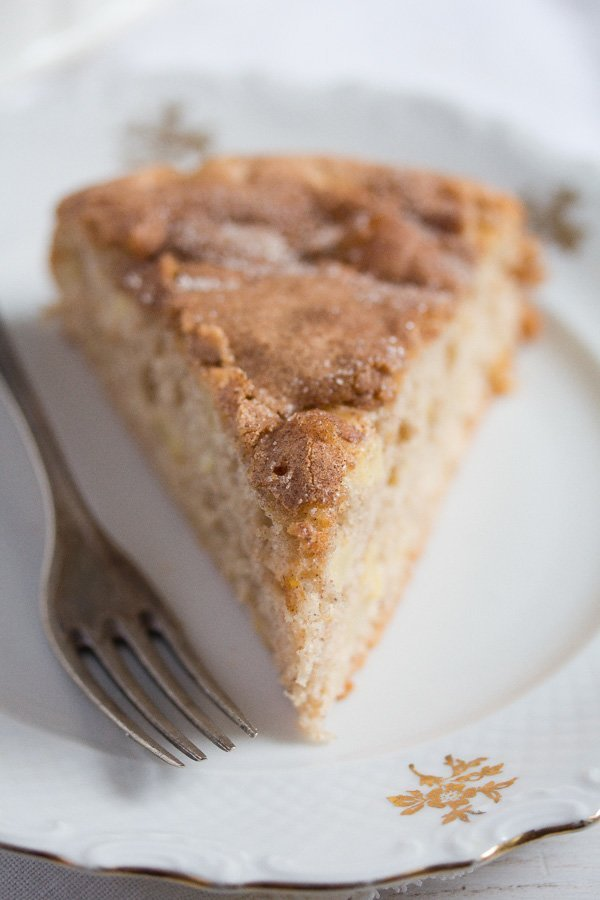 slice of French apple cake