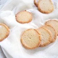 german heidesand cookies on a white cloth