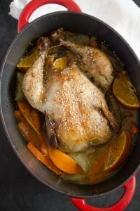 how to make chicken with oranges 200x300 Whole Roasted Chicken with Oranges, Carrots and Onions