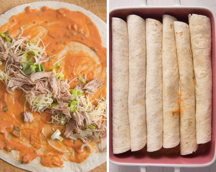 how to make sour cream chicken enchiladas 2 Sour Cream Chicken Enchiladas – Easy Mexican Enchilada Recipe