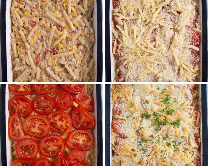 how to make tuna noodle casserole 2 Cheesy Tuna Noodle Casserole from Scratch