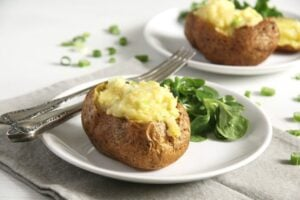 jacket potatoes cheese 300x200 Easy Jacket Potatoes with Filling