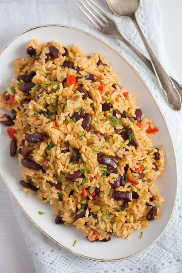 jamaican rice and peas 6 Jamaican Rice and Peas Recipe – Easy Red Beans and Rice