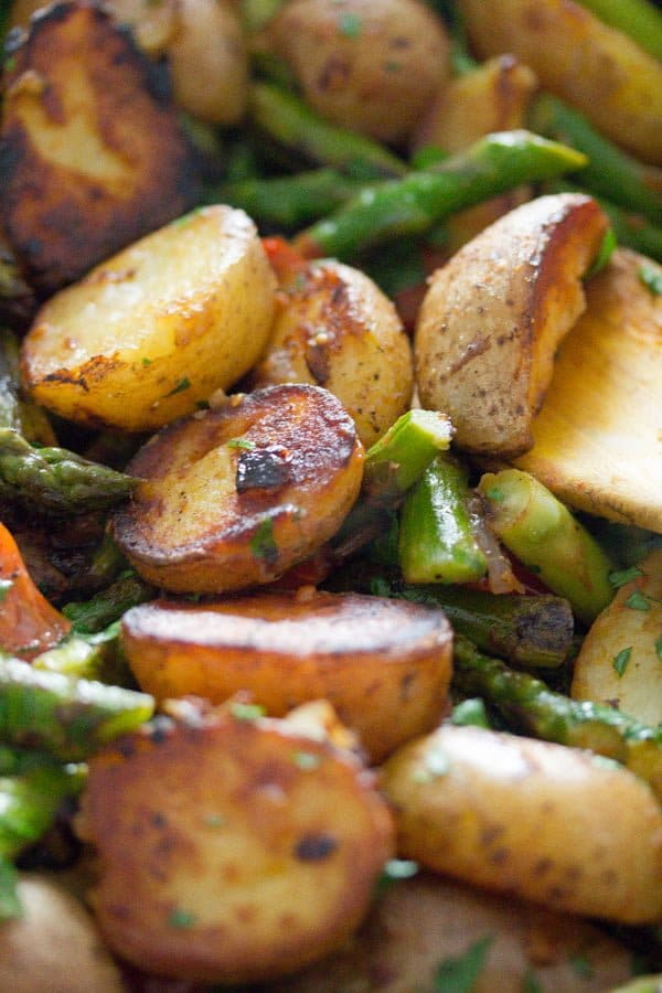 pan roasted asparagus and potatoes 12 Pan Fried Asparagus and Potatoes – Green Asparagus Recipe