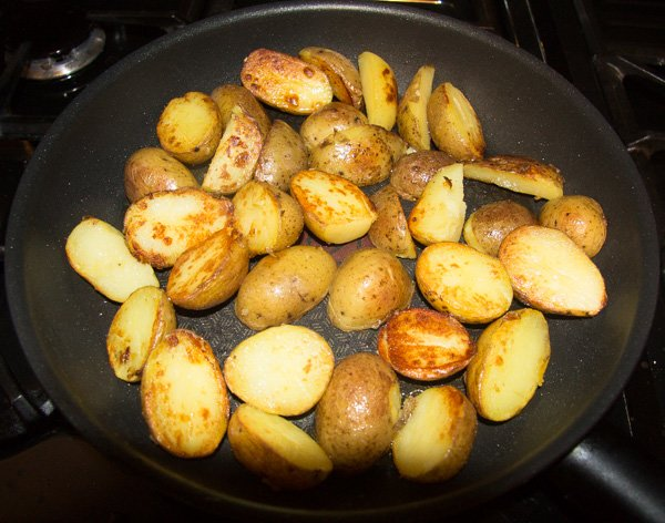 how to make pan fried asparagus and potatoes