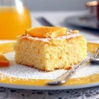 sweet polenta cake with fresh oranges